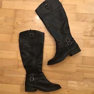 American Eagle Black Boots Tall 7.5 Like New